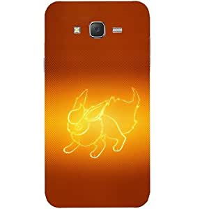 Casotec Animal Shape Pokemon Design Hard Back Case Cover for Samsung Galaxy J7