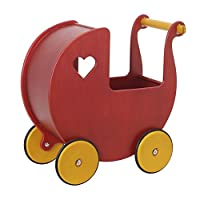 HABA Moover Mini Doll Pram, Red by Moover