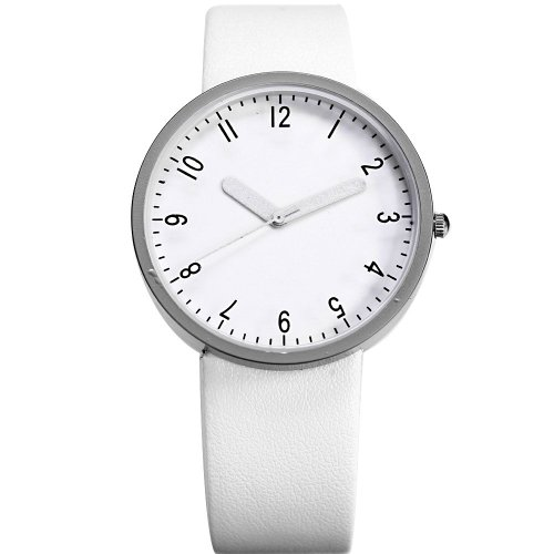 AMPM24 Fashion Women Lady White Dial Leather Sport Quartz Wrist Watch Gift