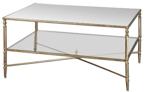 Antiqued Gold Leaf Henzler Coffee Table