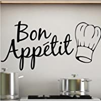 Sticker Bay Bon Appetit Kitchen Wall Sticker Art Quote by Sticker Bay Ltd
