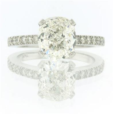 3.48ct Cushion Cut Diamond Engagement Anniversary Ring