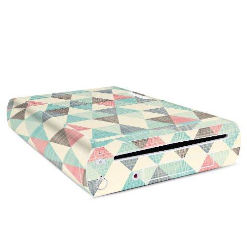 nintendo-wii-u-konsole-case-skin-sticker-aus-vinyl-folie-aufkleber-dreiecke-vintage-muster-pastell