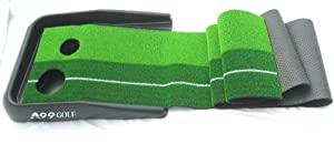 A99 Golf Putting Mat with Ball Return Practice Aid Turf + Mini Mat 168R4 by A99 Golf