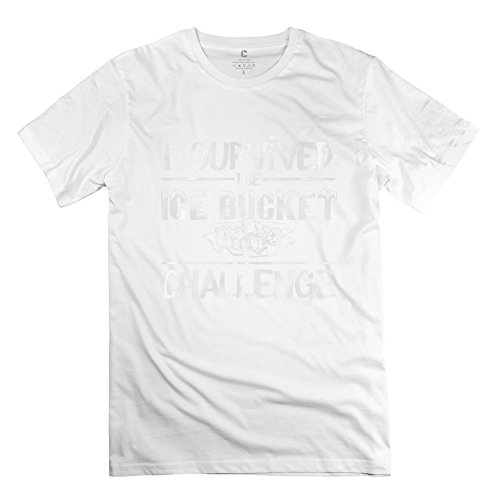 Tgrj Men'S Tshirt - Cool Survived Als Ice Bucket Challenge T-Shirt White Size L