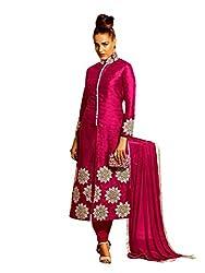 khodiyar fashion Pink bhagalpuri dress materials