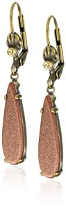 "Sorrelli ""Maple Syrup"" Modern Sleek Teardrop Goldtone Earrings"