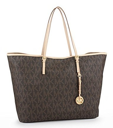 Michael Michael Kors Handbag, Jet Set Travel Logo Large Tote