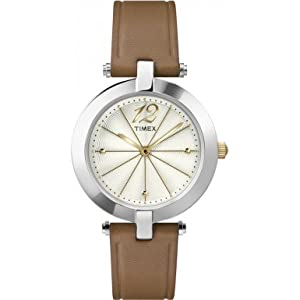 Timex Originals T2P543 Ladies Classic Brown Leather Strap Watch