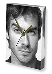 IAN SOMERHALDER - Canvas Clock (A4 - Signed by the Artist) #js001