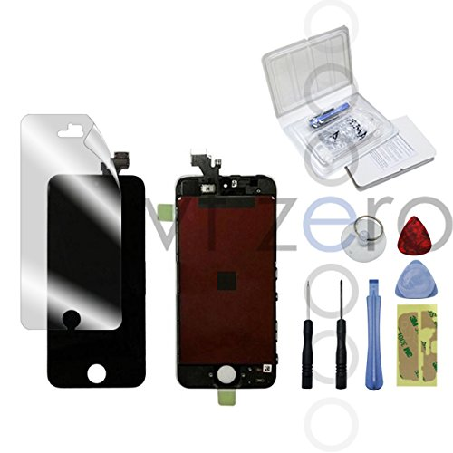 *Prime* For Iphone 5 5G Full Set Lcd Screen Replacement Digitizer Assembly Display Touch Panel Black + Screen Protector & Free Tools Repair Kits