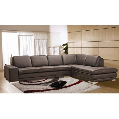 Block Leather Sectional Orientation: Right Chaise front-961559