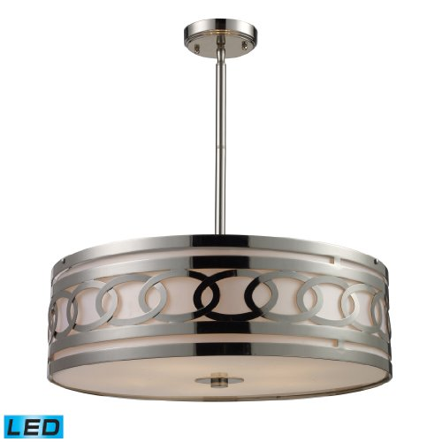 Zarah 5-Light Pendant In Polished Nickel - Led, 800 Lumens (4000 Lumens Total) With Full Scale Dimming Range, 60 Watt (300 Watt Total)Equivalent , 120V Replaceable Led Bulb Included