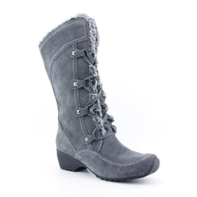 Amazon.com: London Fog Flora Womens Size 9.5 Gray Suede