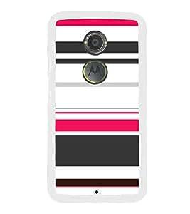 Beautiful Multicolour Line Pattern 2D Hard Polycarbonate Designer Back Case Cover for Motorola Moto X2 :: Motorola Moto X (2nd Gen) :: Motorola Moto X 2014 :: Motorola Moto X+1