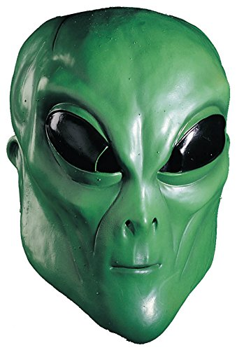 Alien Green Ufo Terrestrial Et Latex Adult Halloween Costume Mask