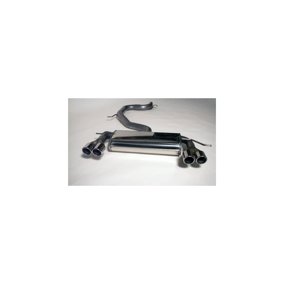 Jetex Stainless Steel Exhaust System   Volkswagen Mk5   Audi A3   2.0t, Pipe Diameter 76mm (3), Dual Twin Round 80mm Tips (one side can be blanked off)
