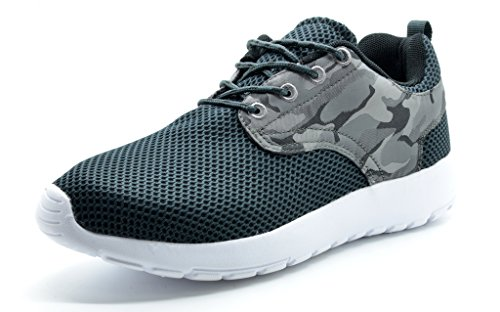 DREAM PAIRS RUNPRO Men's New Light Weight Go Easy Walking Casual Athletic Comfortable Running Shoes Sneakers GREY/CAMO-SZ-7