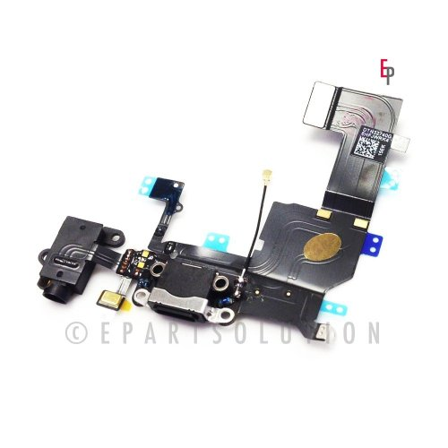 Epartsolution- Iphone 5S Black Charger Charging Port Dock Connector Flex Cable Usb Port Charging Port Usa Seller