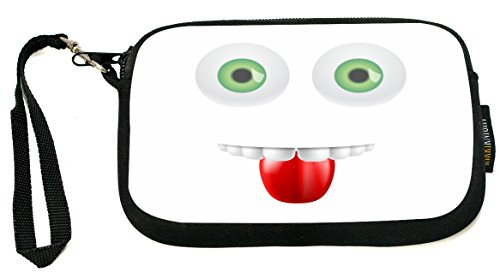 ukbk-funny-expressions-green-colored-eyes-with-mouth-neoprene-clutch-wristlet-with-safety-closure-id