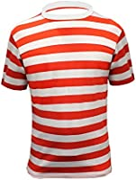Childrens Wally Red White Stripe T-shirt Age 5-13 years