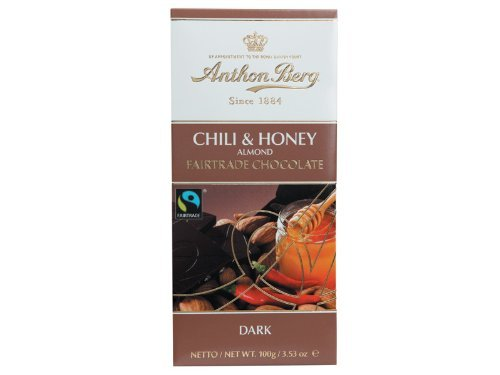 Anthon Berg Fairtrade Chocolate Chili, Honey & Almond (100g) (Chili Honey Almonds compare prices)