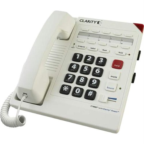 New 26db Amplified Corded Telephone Bright Flashing Visual Ring Indicator Speed Dial Keys Clarity