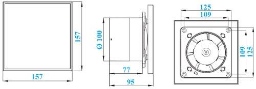 ventilator testsieger mkk shop badl fter 100mm mit r ckstauklappe und feuchtigkeitssensor. Black Bedroom Furniture Sets. Home Design Ideas