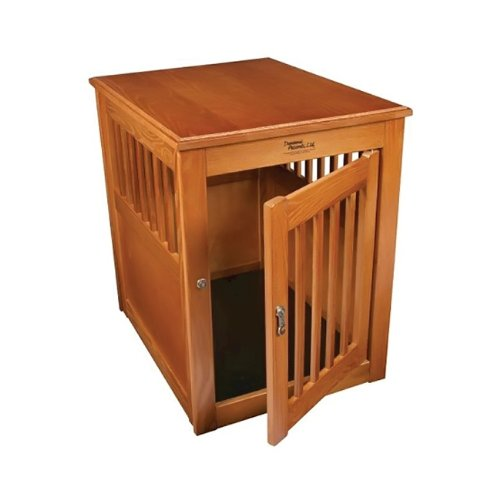 Where To Buy Oak End Table Pet Crate Large Burnished Oak