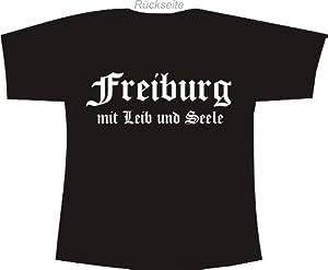 Freiburg mit Leib und Seele; Polo T-Shirt schwarz