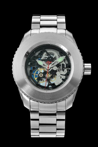 Android Men's Maxjet Skeleton Automatic Stainless Steel Bracelet Watch