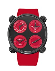 Save Huge On Meccaniche Veloci Men's W124K146377017 Automatic Titanium Charcoal and Red Dial Dual-Time Watch Special offer