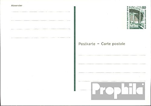 Berlin (West) p131 Officiel Carte postale cachet de complaisance 1989 attractions (Documents entiers postaux pour les collectionneurs)