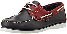 Hush Puppies Mens Boat Lace Up Grey and Maroon Leather Boat Shoes 6 UKIndia 40 EU8249980