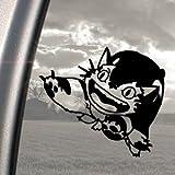 となりのトトロ (A) トトロ スタジオジブリ ジブリ 猫バス ねこバス アート ステッカー カー ウィンドウ シール ノートPC ノートパソコン ブラック 黒 ウォール 壁 インテリアステッカー 【並行輸入品】