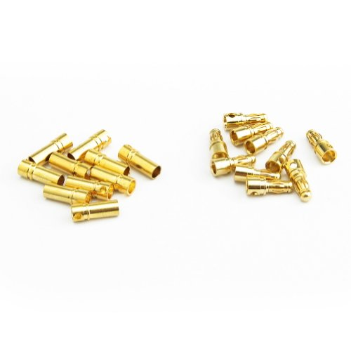 NEEWER® 3.5mm Gold Plated Bullet Banana Plug Connector for RC Battery 10-Pairs - 1