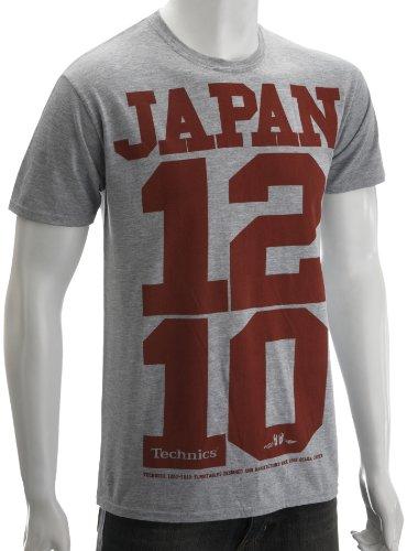 Technics Japan 1210 Music-And-Film Mens T-Shirt College Grey Medium