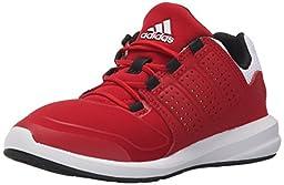 adidas Performance S-Flex K Running Shoe ,Power Red/Black/White,10.5 M US Little Kid