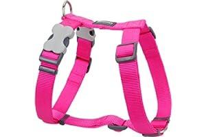 Red Dingo Dog Harness, Medium, 18 mm/ 42 - 57 cm, Plain Hot Pink