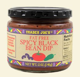 Pack of 2 Trader Joe's Fat Free Spicy Black Bean Dip - No Preservatives/No Artificial Ingredients/No Oils Added / 12oz., 340g. by Trader Joe's