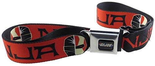 GI JOE Seatbelt Belt Ninja Face Black/Red/White (Gi Joe White Ninja compare prices)