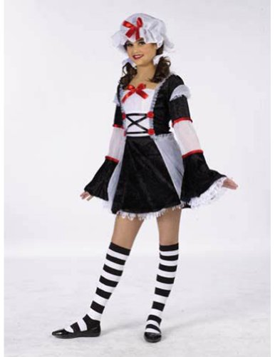 girls - Rag Darlin Teen 0-9 Halloween Costume - Teen 0-9