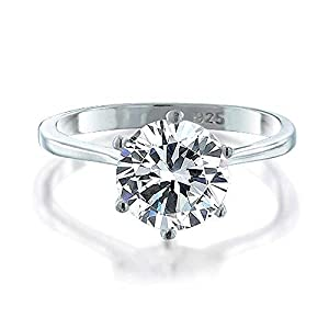 Bling Jewelry 925 Sterling Silver Round Solitaire CZ Engagement Ring from Bling Jewelry