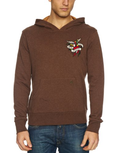 Ed Hardy True Til Death Men's Jumper Brown Medium