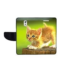 KolorEdge Printed Flip Cover For Lenovo Vibe P1M Multicolor - (1478-50KeMLogo09811LenovoP1M)