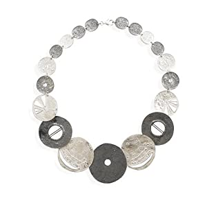 Textured Multi Design Disc Necklace