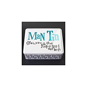 Gifts for Men - Man Tin - leads, screws & other pointless stuff I must keep - id