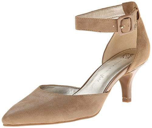 Ak Anne Klein Women'S Fabulist Leather Dress Pump, Taupe, 5 M Us