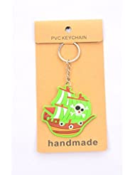 Green War Ship Key Chain Pack Of 2