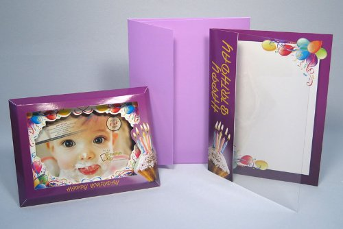 3D Photo Frame/Greeting Card - HAPPY BIRTHDAY (Cupcake & Balloons)